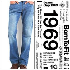 Gap 1969 Authentic Whiskered Men's Jeans 40x30